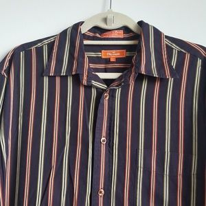 Faconnable Cotton Striped Button Up Casual Shirt